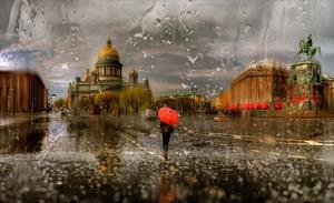Бегущая над дождем