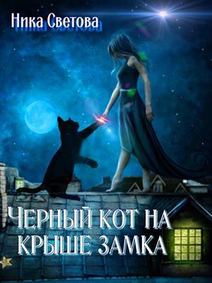 Черный кот на крыше замка