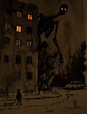 Пятиэтажка ( рисунок Бориса Грох)